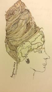 Self-portrait in lettuce